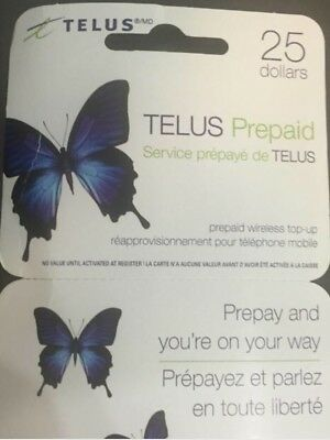 Telus $25 Prepaid Top up Card