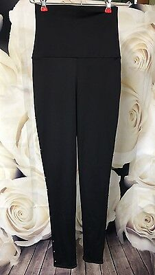 BALERA Black Leggings dance fitness yoga spandex nylon Size Small Adult SA BLING