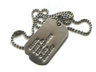 Real Standard Notched Military Issue GI Dog Tag Dogtag Made Just For U