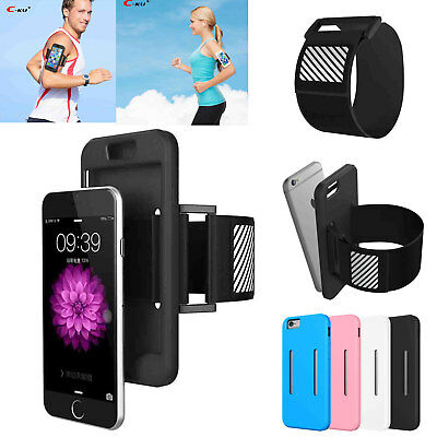 Jogging Gym Armband Sports Running Arm Holder Case Cover For iPhone 6 7 8 Plus X