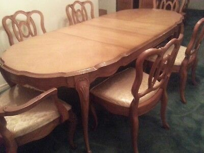 Country French Provincial  Dining Room Table and Chairs- J.L. Metz