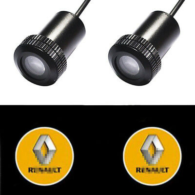 1Pair Auto Welcome Light for RENAULT Car LED Logo Projector Shadow Laser Lights