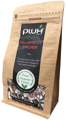 Fig and Apricot Organic Bircher Muesli 1kg - Plum Organic Foods