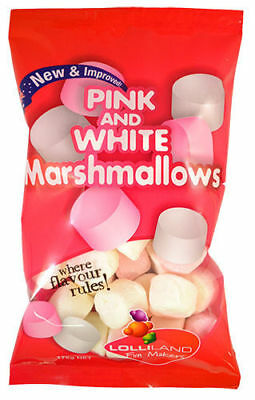 Pink and White Marshmallows 175g (12)