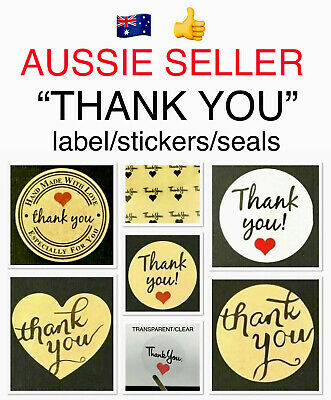 """🎁~""""Thank You"""" Style~Gift Labels/Stickers/Seals~Craft/Favours/Gift Packaging"""