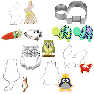 Stainless Steel Animal Cookie Cutter Cake Decoration Baking Mold Tools Mould C