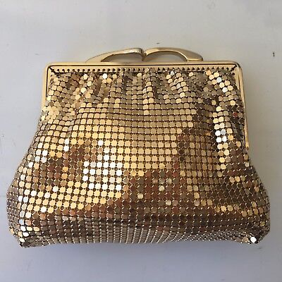 Vintage Glomesh Gold Clutch Purse in Excellent Condition