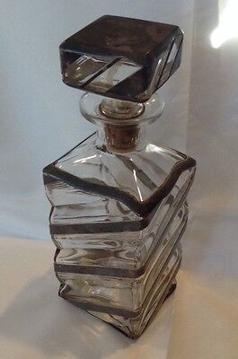 .950 Sterling Silver Overlay Decanter