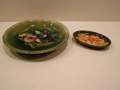 2 Pieces Of Moorcroft Pottery Dishes