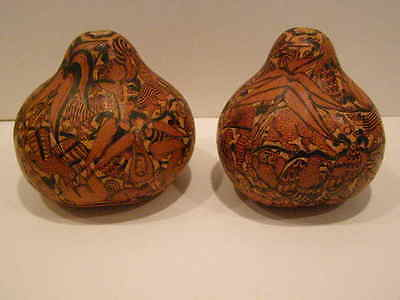 Peruvian Carved Gourds By Alejandro Osores C.