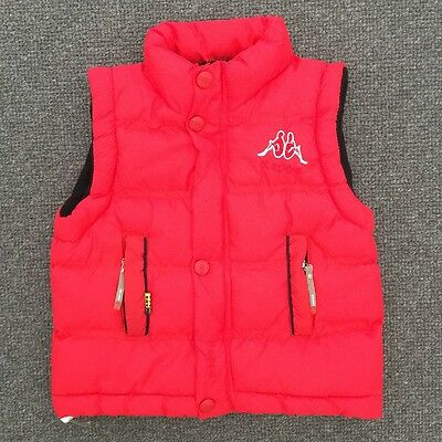 KAPPA Boys Red Puffer Vest With Polar Fleece Lining Size Medium (4-5years)