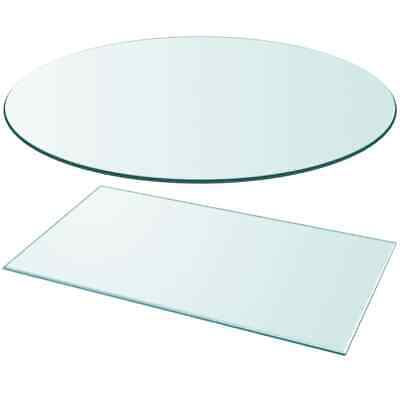 vidaXL Table Top Dining Coffee Table Protector Tempered Glass Multi Size Shape