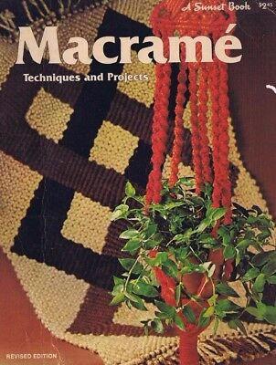 Vintage MACRAME KNOT TYING Technique Project Instruction Guide Book Sunset PB