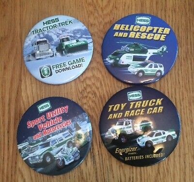 HESS - Lot Of 4 Toy Truck Employee Pins 2004,2011,2012 & 2013