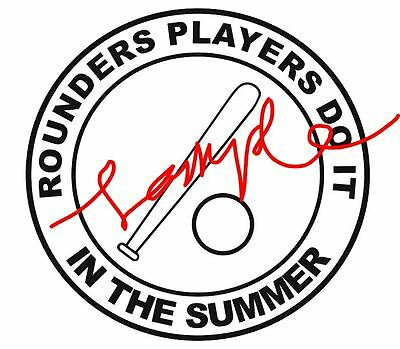 rounders sticker decal funny humour rounders players do it in the summer
