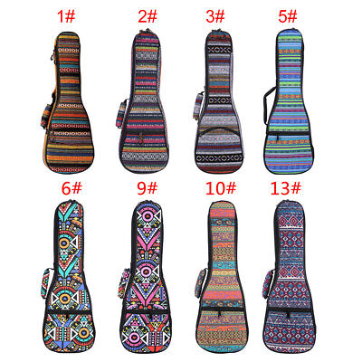 21'' 23'' 26 Inches Ukulele Gig Bag Case Soft Padded For Soprano Concert Uke Uku