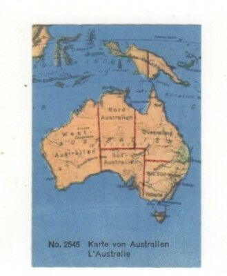 Lindt Chocolate Australiana Card: Map of Australia