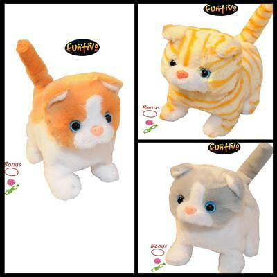 Walking Cat with Sound and Super Soft Fur Kids Play animal Stuffed Toy Plush new