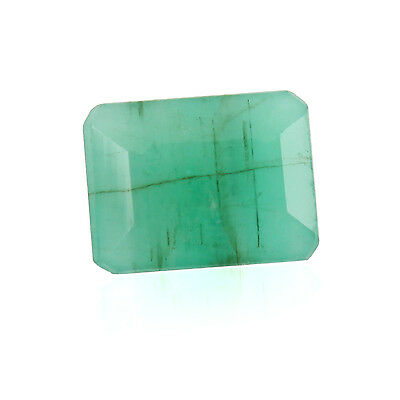 Light Green Color Faceted Radiant Shape Natural Brazilian Emerald