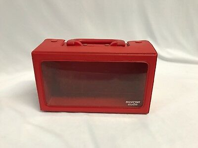 Musicway Audio Cassette Tape Red Vinyl Storage Case