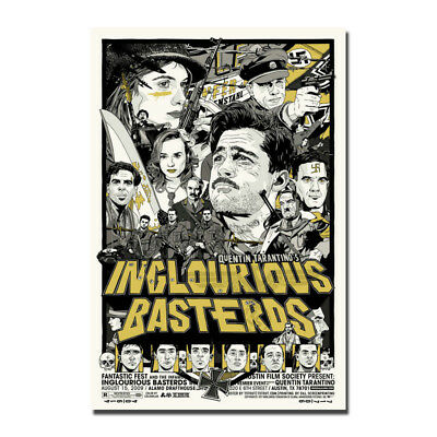 Brad Pitt movie Inglourious Basterds Art Canvas Poster 8x12 20x30 inch