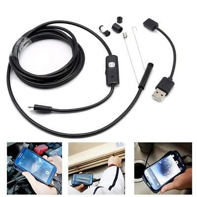 USB Endoscope Android Mobile Phone Camera Waterproof Inspection Borescope 2M-5M