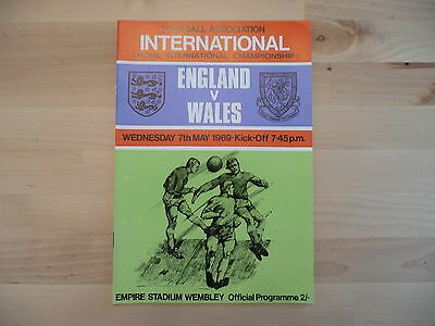 England V Wales International 1969 Programme.