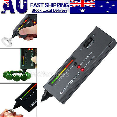 LED Audio Portable V2 Diamond Gemstone Gems Jewelry Tester Selector Pen Tool