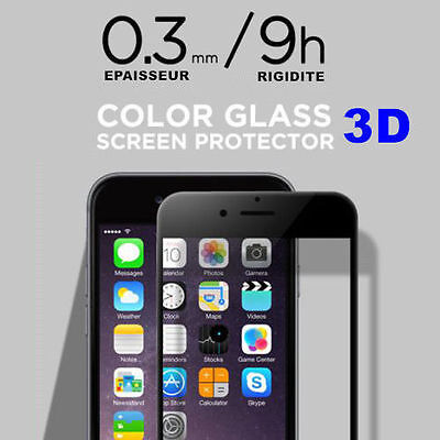 Full caver iPhone X/8/7/6/S Plus Film protection écran 3D vitre en verre trempé