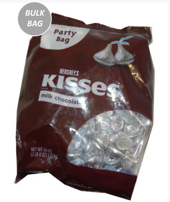 907644 1.13kg PARTY BAG HERSHEYS MILK CHOCOLATE KISSES APPROX 250 PIECES