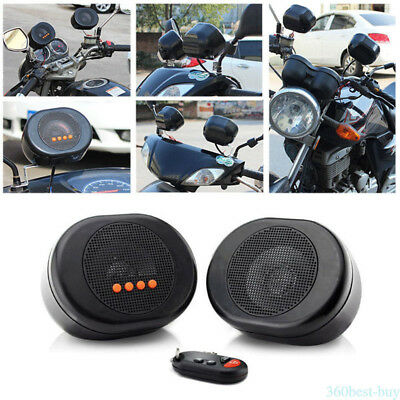 Professional Motorcycle Insert Card MP3 Radio Player Speaker With Remote Control