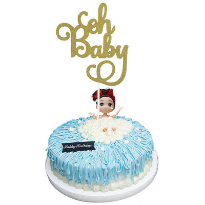 """2pcs """"Oh Baby""""  knot Cupcake Picks Cake Topper Baby Shower new"""