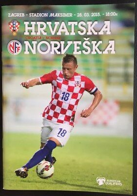 Official programme Croatia v Norway 2015 European Qualifiers in Zagreb