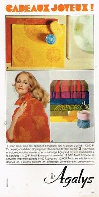 Publicité Advertising 1968 Linge De Maison Draps Agalys Collectibles L