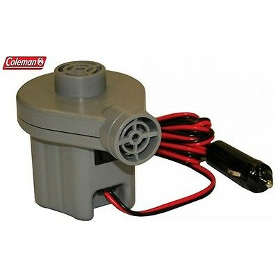 Coleman Inflate All 12V Air Pump Comes w 3 adaptors fits almost all inflatables