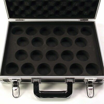 Strong Lockable FLIGHT BOX STYLE Aluminium 22 Snooker Ball Carrying Case