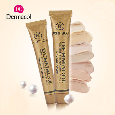 Dermacol Gold Tube Concealer Foundation Liquid Cover Tattoo Black Eye Waterproof
