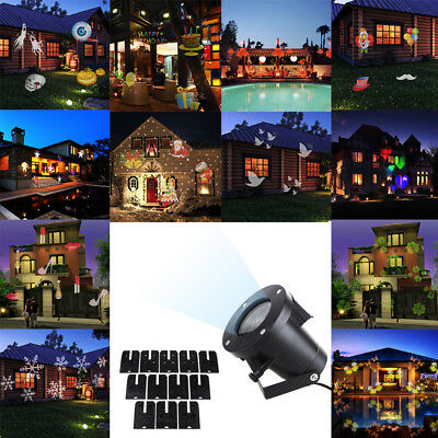 12 in1 Pattern Laser Projector LED Lights Xmas Outdoor Landscape Wall Decor Lamp