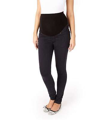 NEW Mamas and Papas M&P Maternity Black SKINNY Over the Bump JEANS 8R 10L