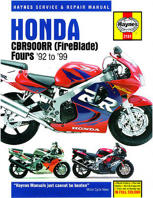 Haynes Honda Cbr900Rr Fireblade 1992-1997 Haynes Service Manual Workshop Manual