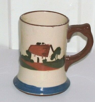 """Early Torquay Ware Motto Mug """" Never Say Die, Up Man And Try """" In Good Condition"""