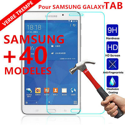 SAMSUNG GALAXY Tab Tablette FILM VITRE PROTECTION VERRE TREMPÉ ÉCRAN INCASSABLE