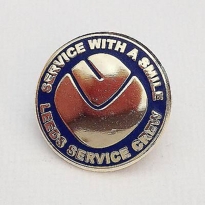 Service With A Smile - Leeds Enamel Football Pin Badge