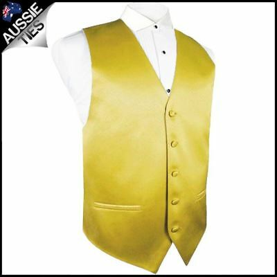 "Boys Metallic Gold Waistcoat Vest 32"" / 82cm Boy's Kids' Wedding"