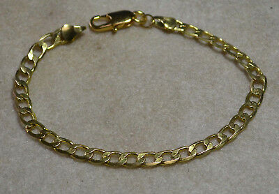 Vintage gorgeous 14ct gold antique strong links Italy bracelet