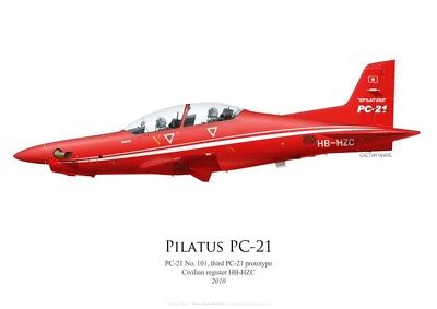 Print Pilatus PC-21 No 101, HB-HZC (by G. Marie)