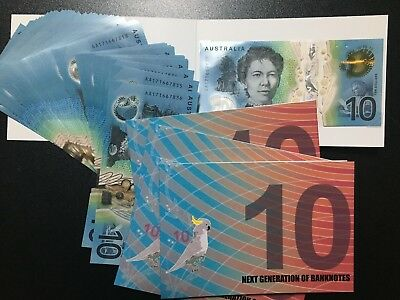 2017 next generation of banknotes $10 First Prefix AA UNC