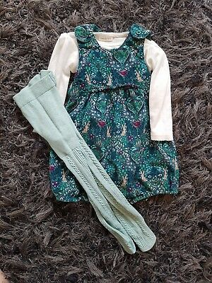 girls next dungaree set age 6-9 months