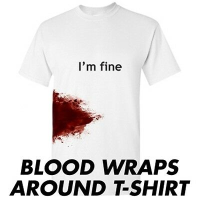 I'm Fine Sarcastic Zombie Adult Humor Gift Idea Graphic Funny Novelty T Shirts