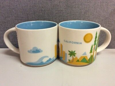NEW 14oz Starbucks California You Are Here Collection Coffee Mug - Free Delivery